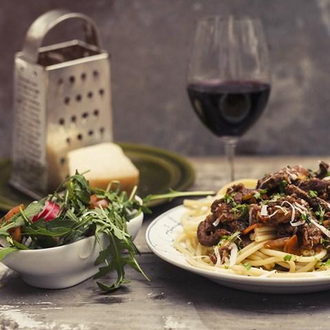 Steak Sandwich Med Pepparrot, Avokado-wasabi Crème & Parmesan