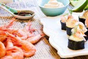 Läcker bjud–sushi med oude kaap