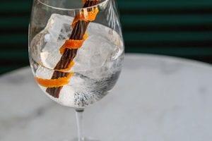 Rhubarb Cinnamon Martini