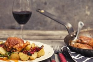Saltimbocca På Kyckling Med Saffranspotatis