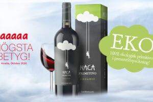 NACA PRIMITIVO ORGANIC 2019 - Ett ekologiskt vin från Apulien