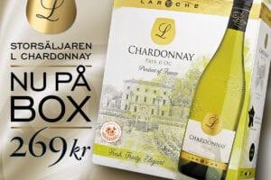 Nyhet! Storsäljaren Laroche L Chardonnay – äntligen på box!