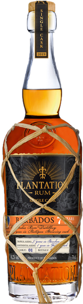 Plantation Single Cask Barbados 7 yo Partizan Brewing 52,1%